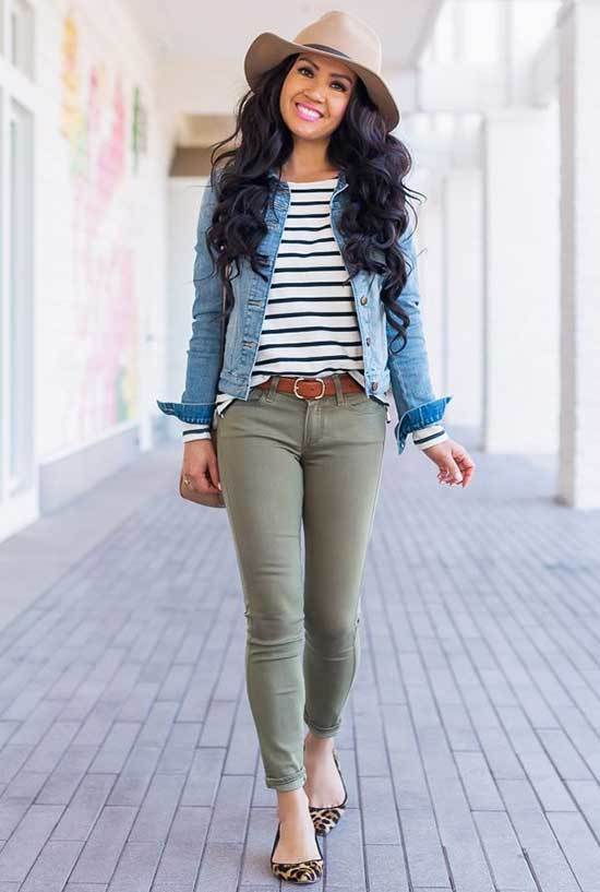 Casual Spring T-Shirt Outfits-11