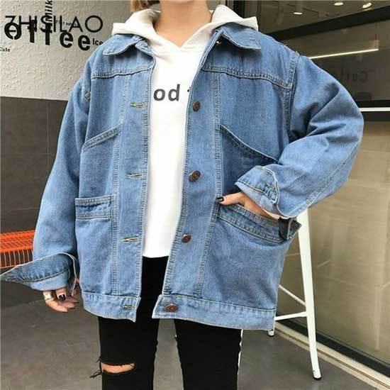 Oversized Jean Jacket Outfits-11