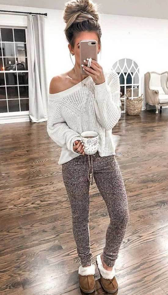 Lazy Day Sweater Outfits-11