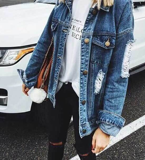 Jean Jacket Outfits for Girls-12