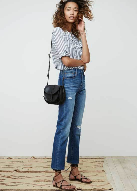 Simple Crop Jeans Outfits-13