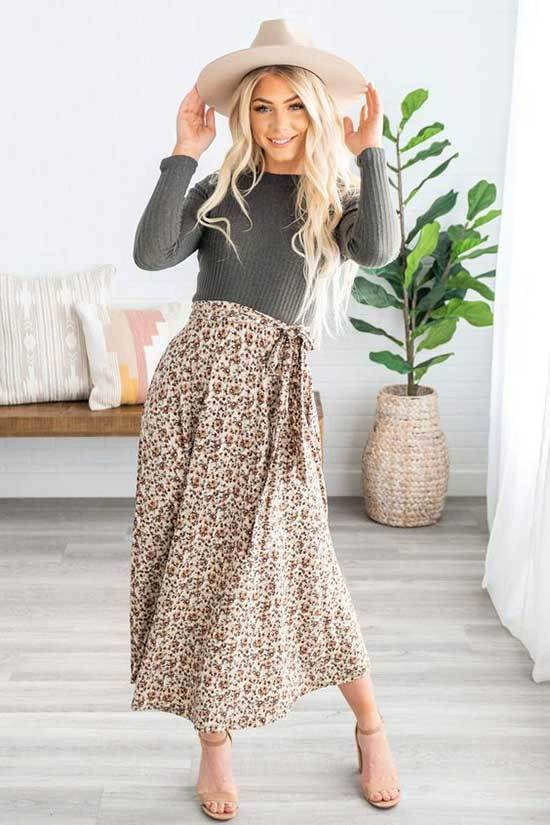 Casual Spring Skirt Outfits-14