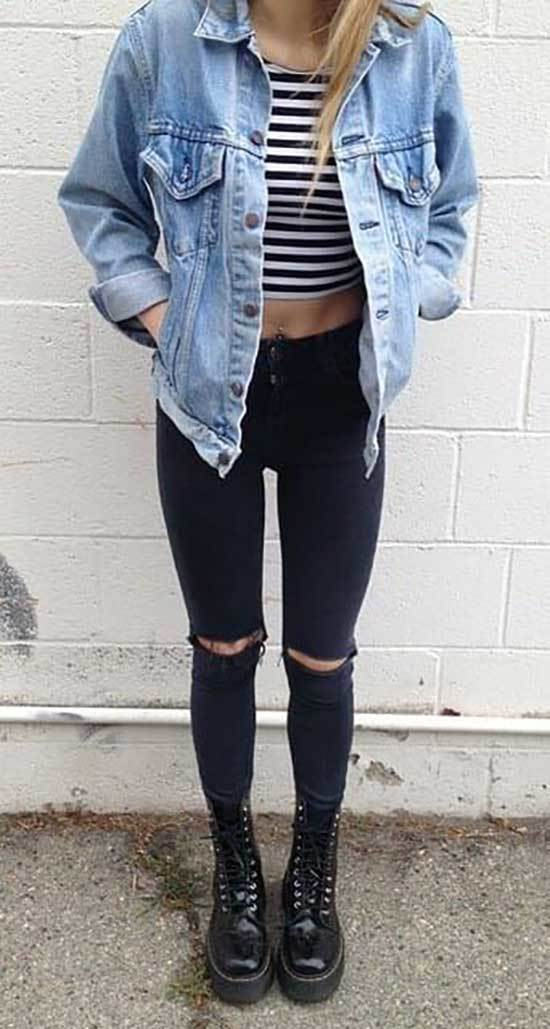 Jean Jacket Street Style Outfits-14