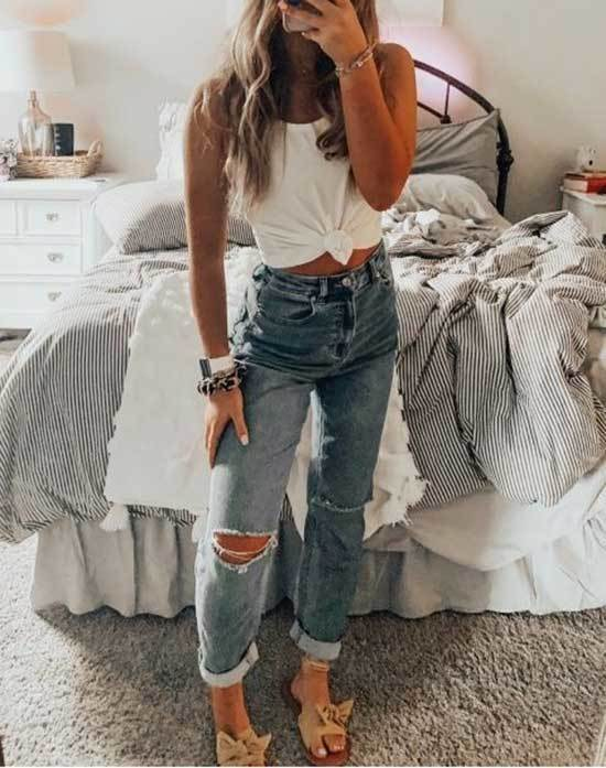 Casual Spring Mom Jeans Outfits-15