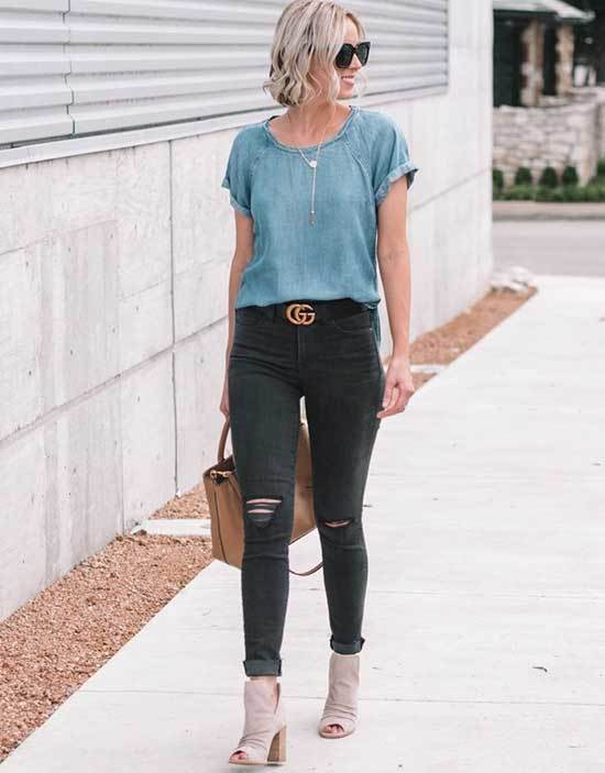 Simple Ripped Jeans Outfits-15