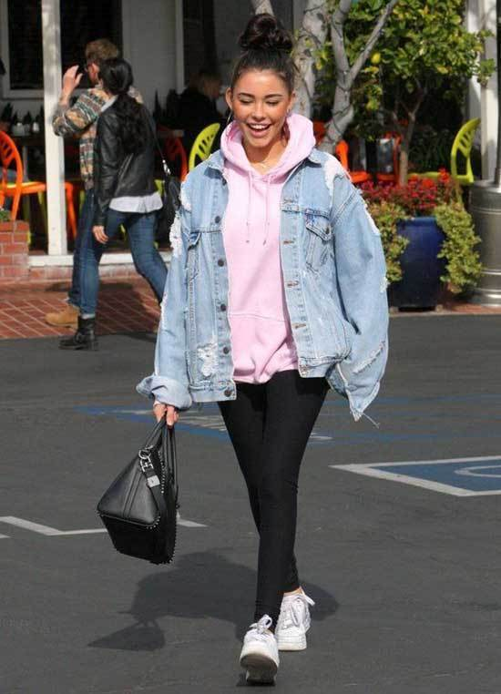 Oversized Jean Jacket Outfits-16