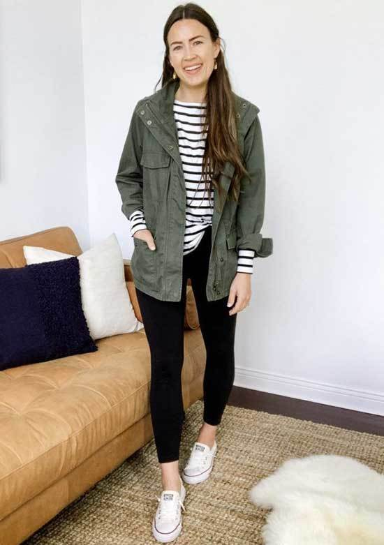 Simple Green Jacket Outfits-17