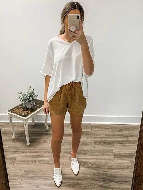 Casual Spring Shorts Outfits-19