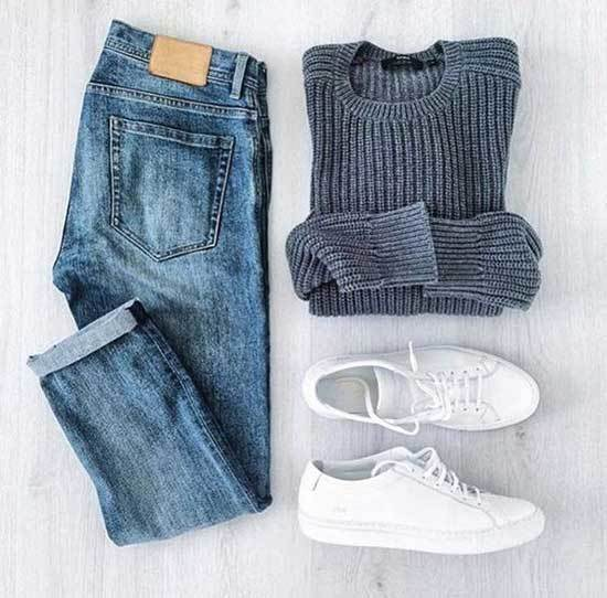 Simple White Sneakers Outfits-19
