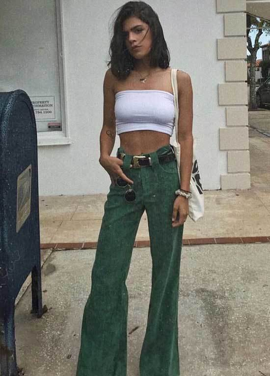 Casual Spring Flare Pants Outfits-26