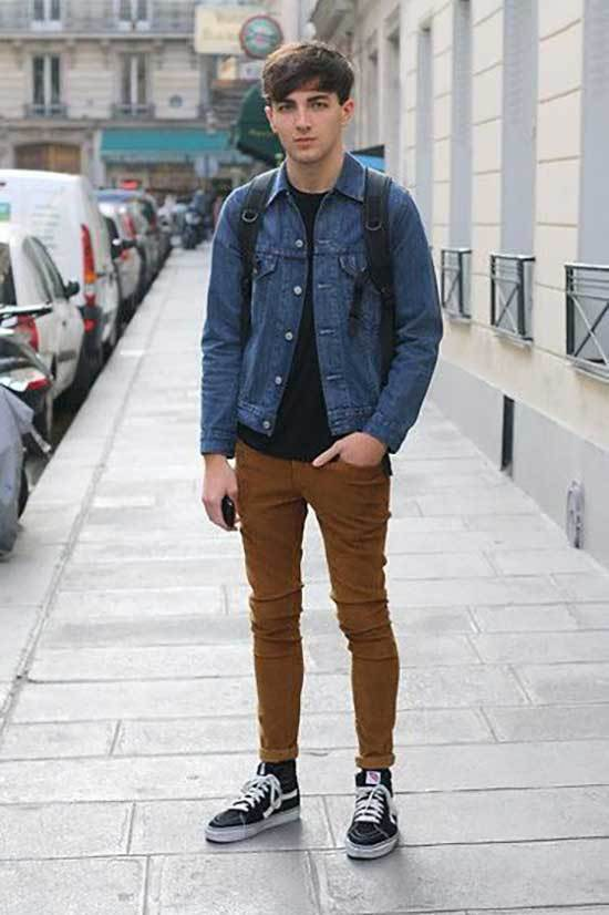 Mens Simple School Outfits-27