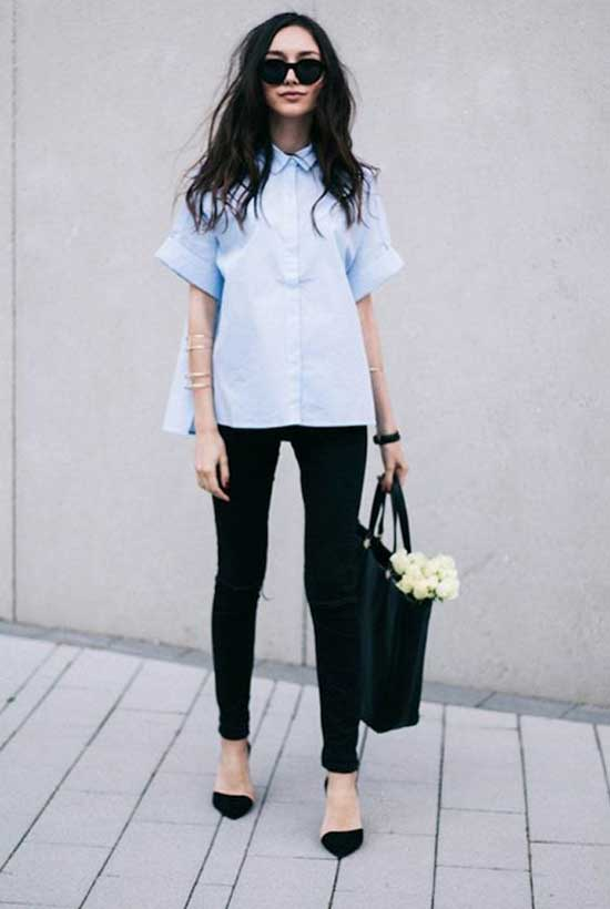 Simple Black Pants Outfits-6