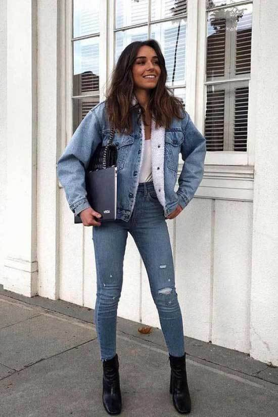 Jean Jacket Winter Outfits-8