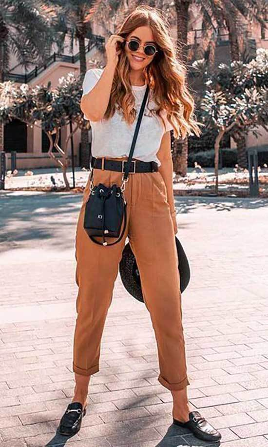 Casual Spring Camel Pants Outfits-9
