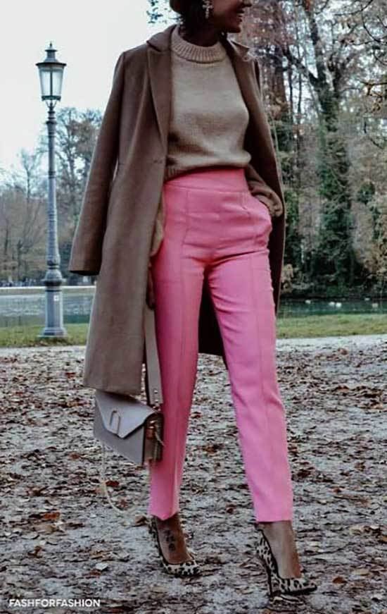 Pink Cargo Trousers Outfit 2020-10
