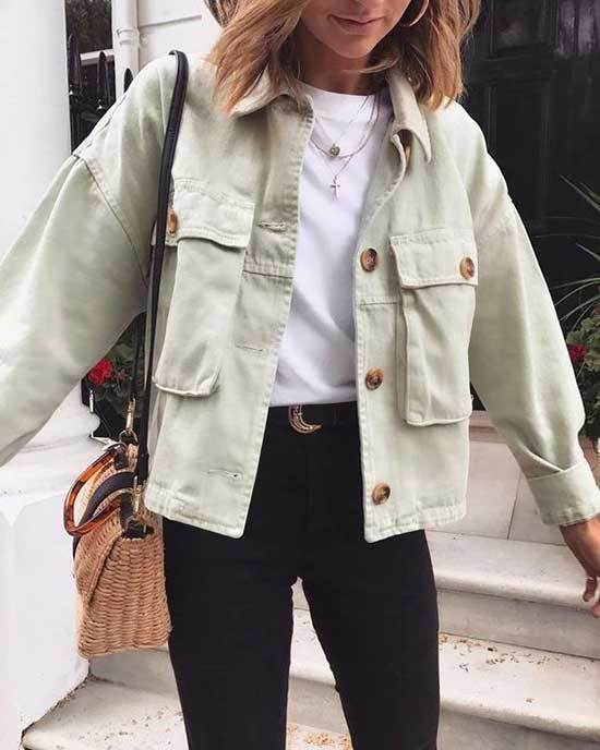 Simple Oversized Jean Jacket Outfit Ideas-10