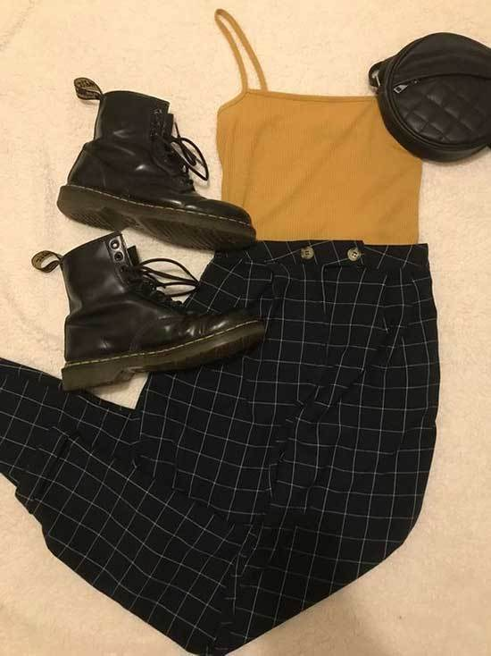 Wide Legged Pants Concert Outfits for Women-11