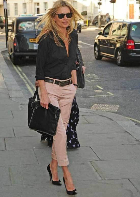 Pink Trousers Black Stilettos Outfit 2020-12