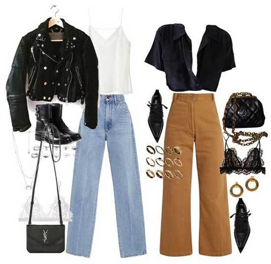 Wide Legged Jeans Concert Outfits for Women-13
