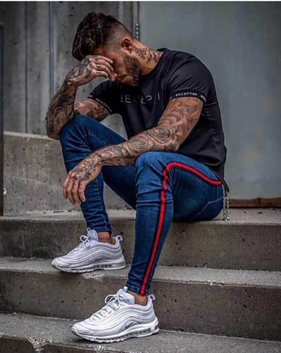 Sporty Slim Pants Outfits for Guys-14