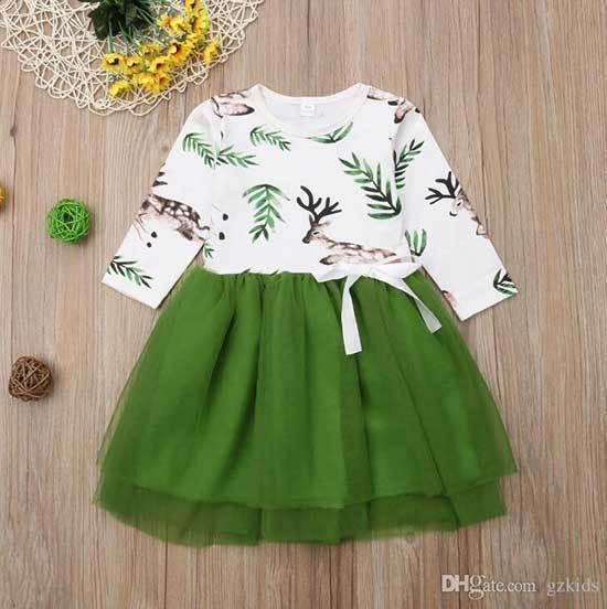 24 Month Girl Green Dress-15