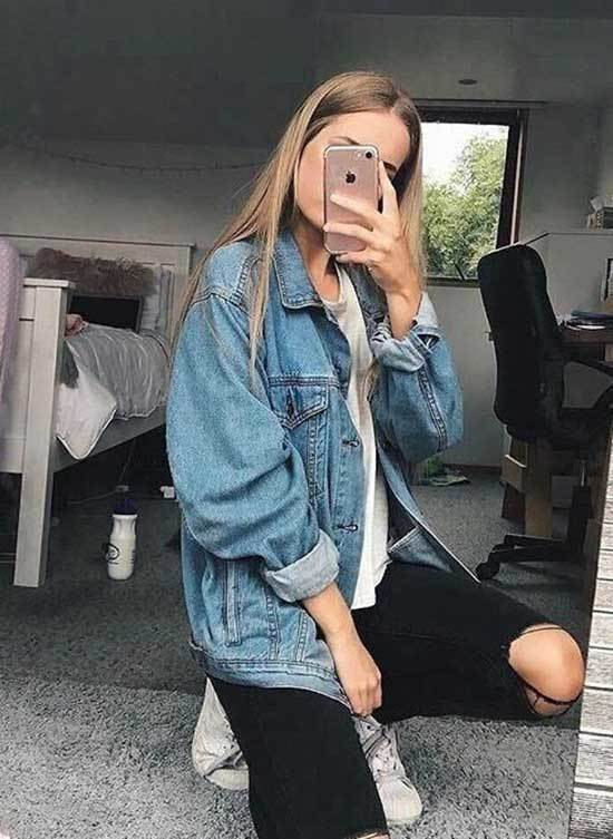 Oversized Jean Jacket Outfit Ideas-15