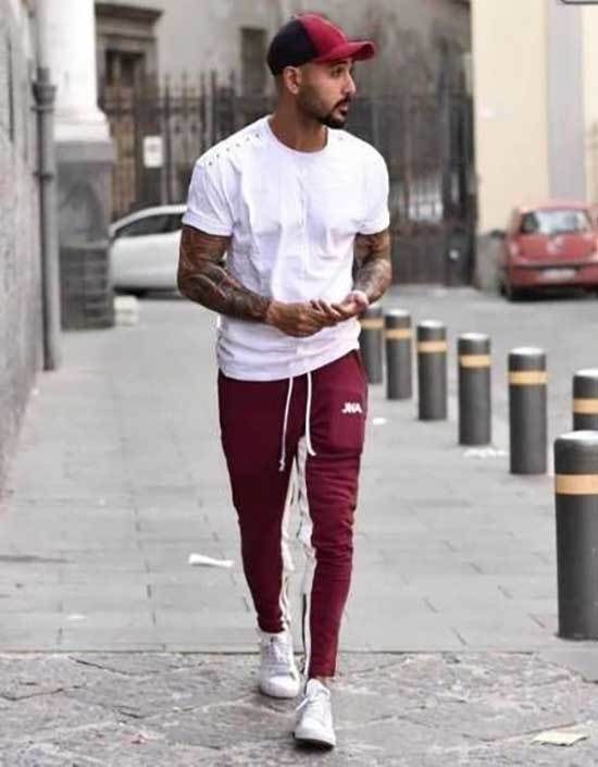 Jogger Pants Sporty Outfits for Guys-15
