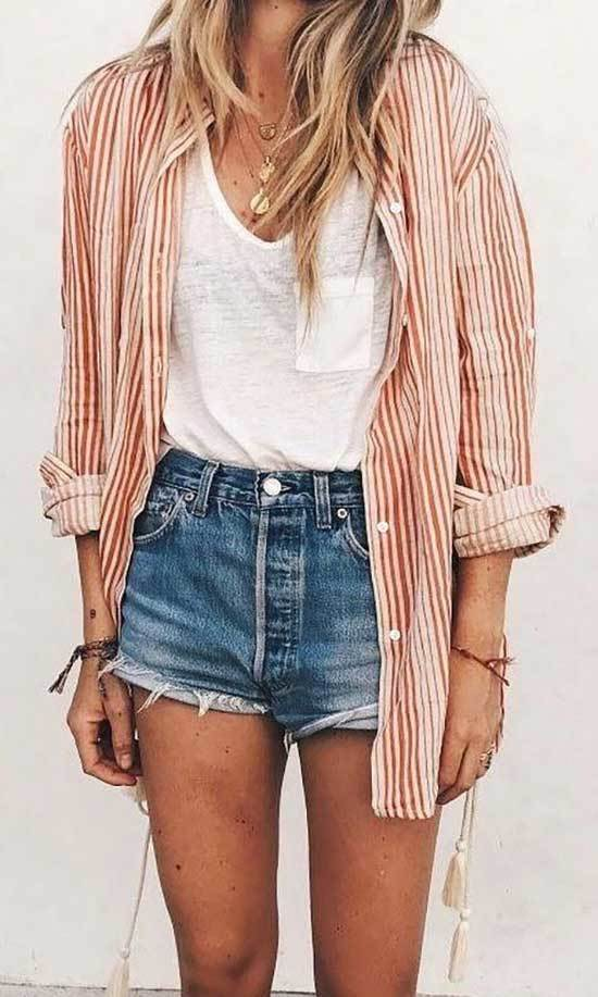 Cute Summer Shorts Outfits-15