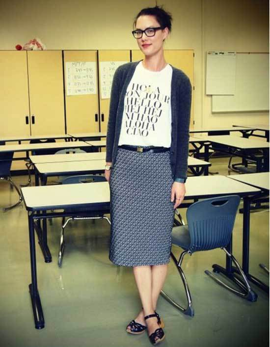 Business Casual High School Teacher Outfits-16