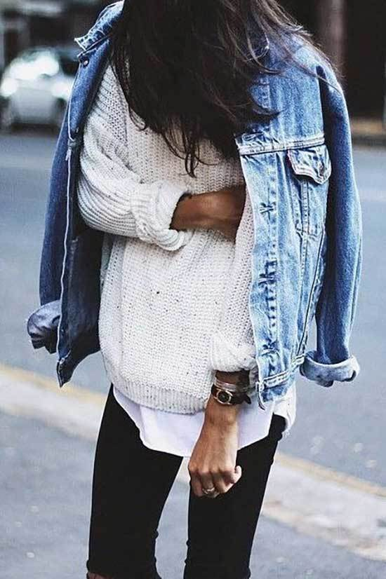 Oversized Jean Jacket Winter Outfit Ideas-16