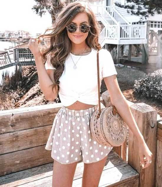 Cute Shorts Summer Outfits-17