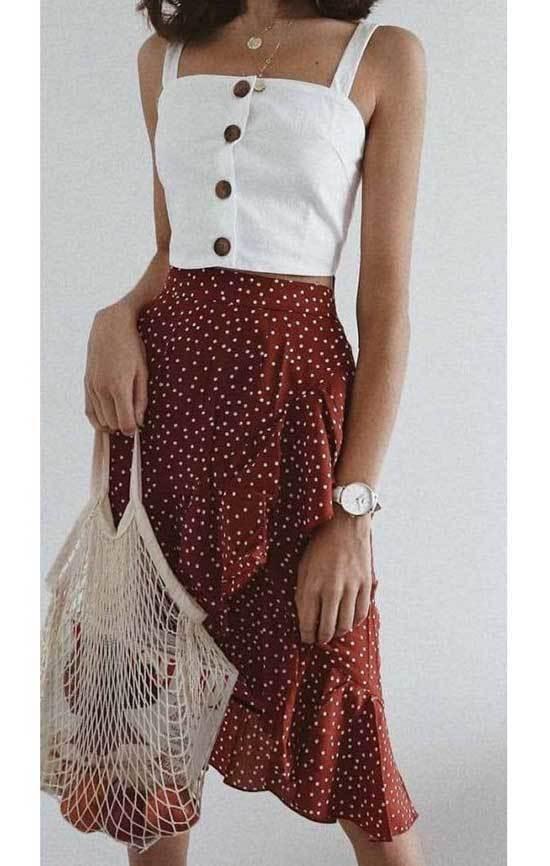 Cute Midi Skirt Summer Outfits-21