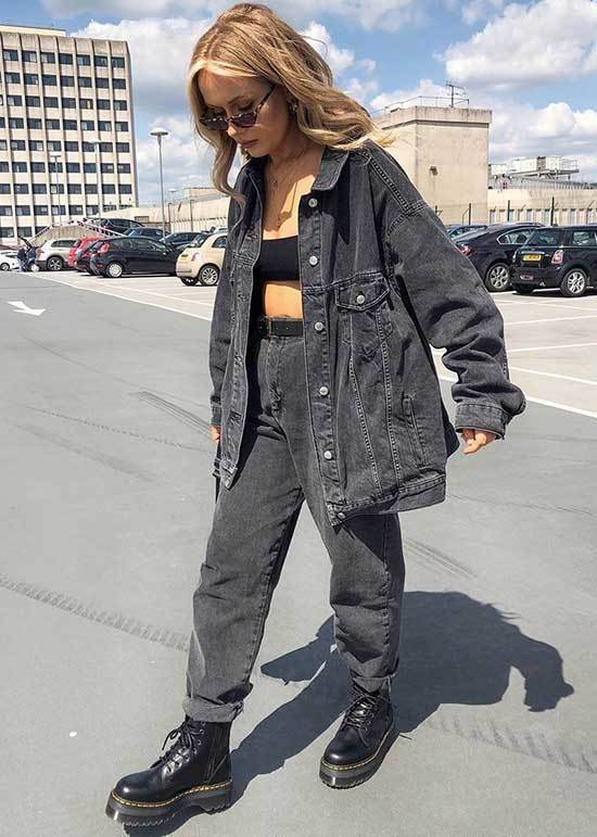 Oversized Jean Jacket Outfit Ideas-21