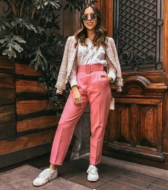 Pink Trousers Outfit 2020-21