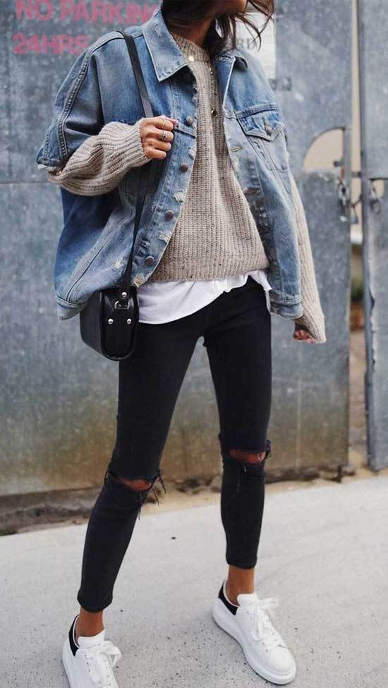 Oversized Jean Jacket Outfit Ideas-22