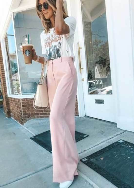 Pink Trousers Outfit 2020-25