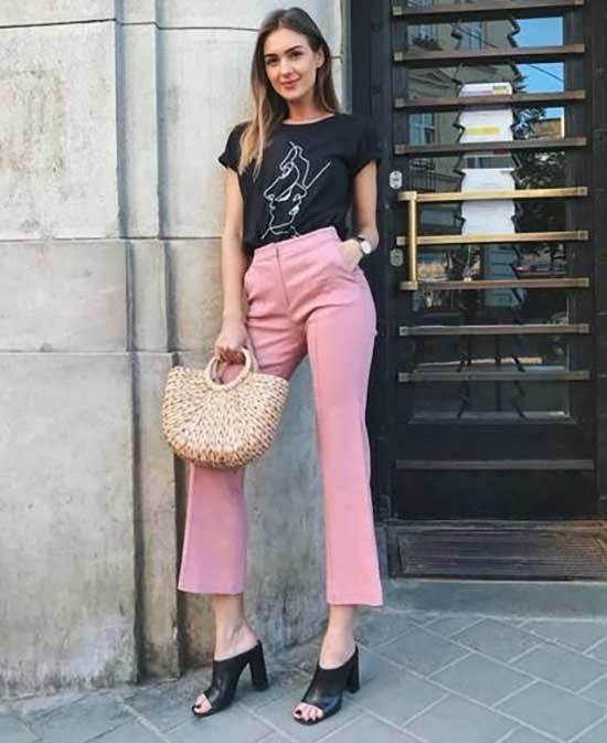 Pink Trousers Outfit 2020-26