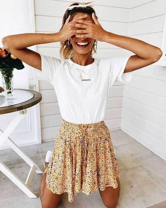 Cute Skirt Summer Outfits-26
