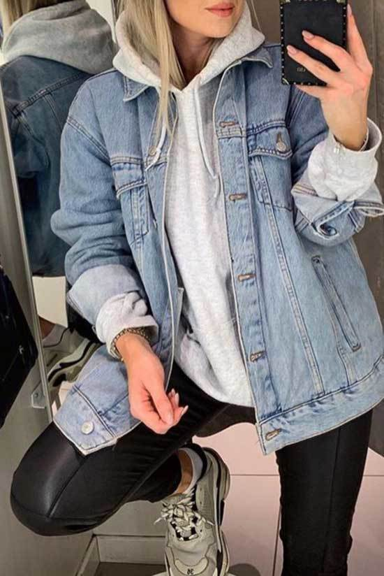 Oversized Jean Jacket Outfit Ideas-27