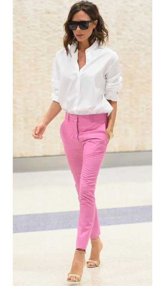 Pink Trousers Outfit 2020-28