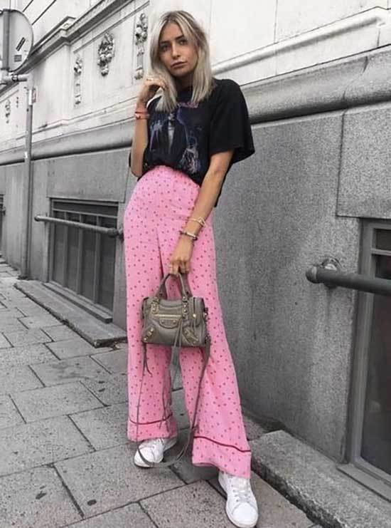 Pink Trousers Outfit 2020-29