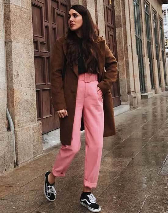 Pink Trousers Outfit 2020-30