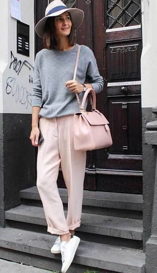 Pink Trousers Street Style Outfit 2020-6