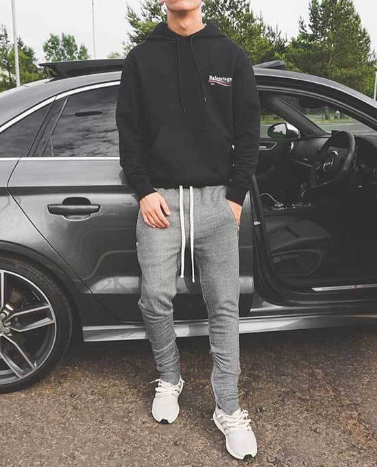 Sporty Hoodie Outfits for Guys-6