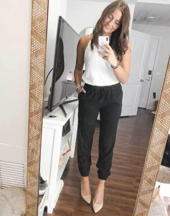 Black Pants Teacher Outfits-7