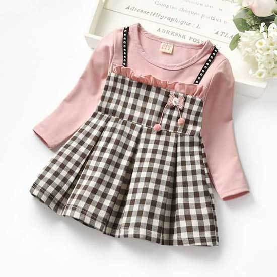 24 Month Girl Plaid Cotton Dress-8