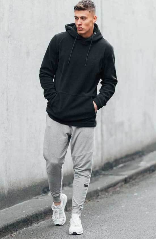 Sporty Sweatpants Outfits for Guys-8