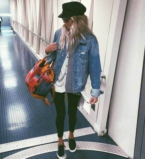 Oversized Jean Jacket Outfit Ideas