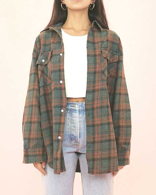Cute Flannel 90S Outfits-10