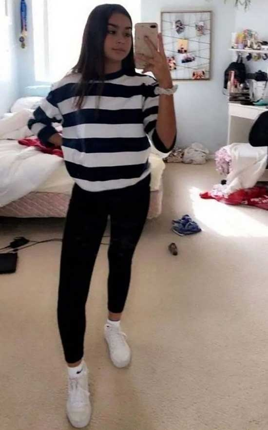 Black Leggings Outfit Ideas for Teens-10